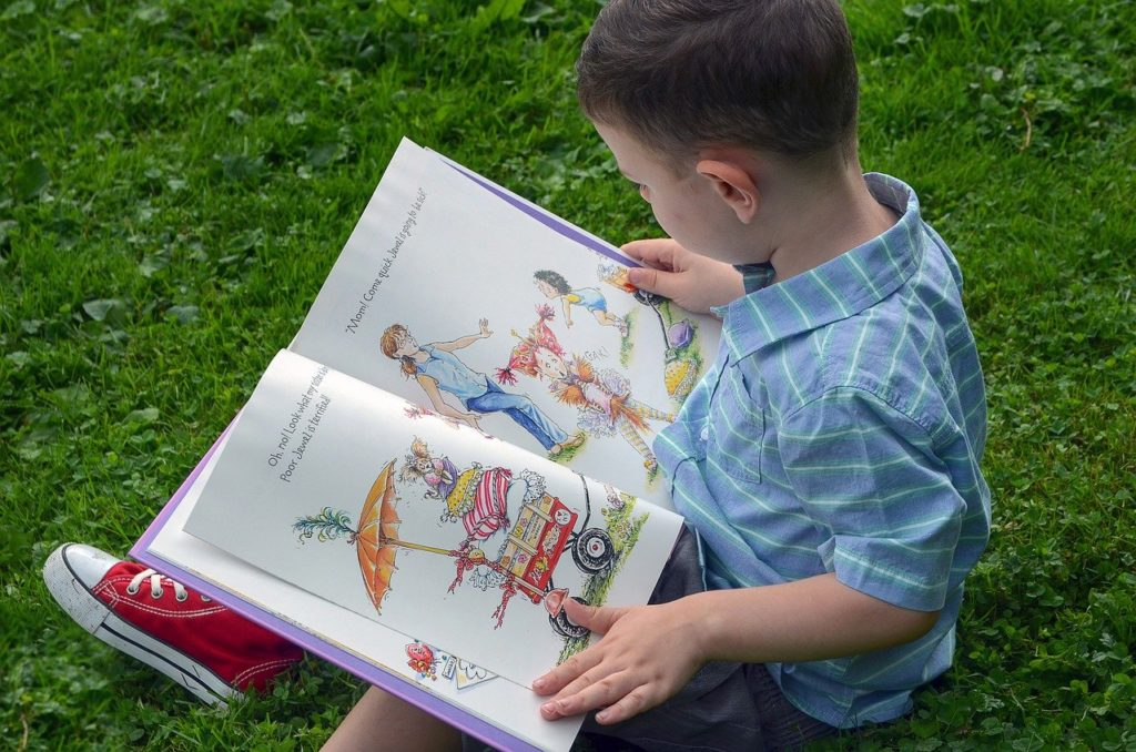 Child reading a book, CBD for ADHD