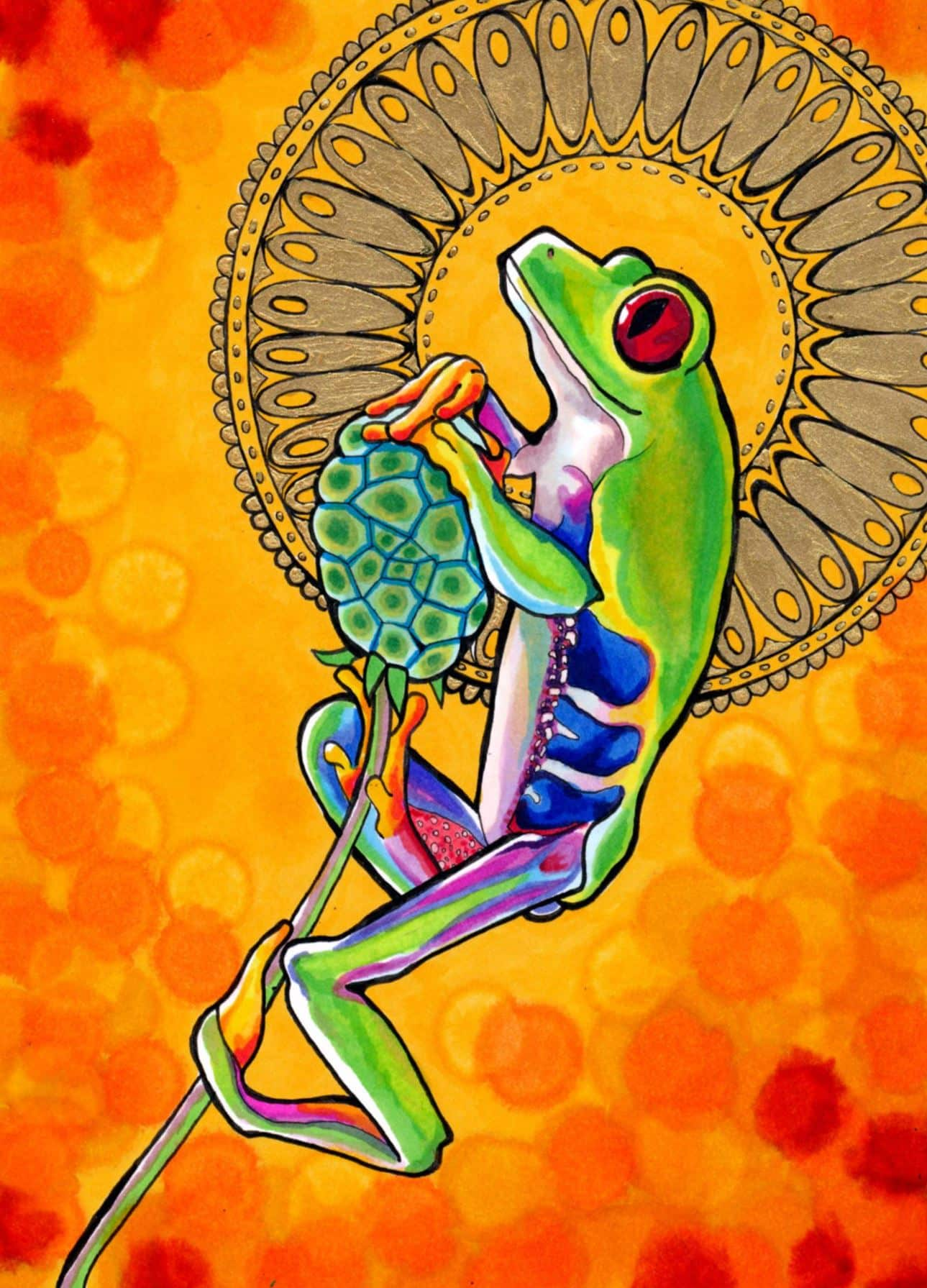 Psychedelic tree frog